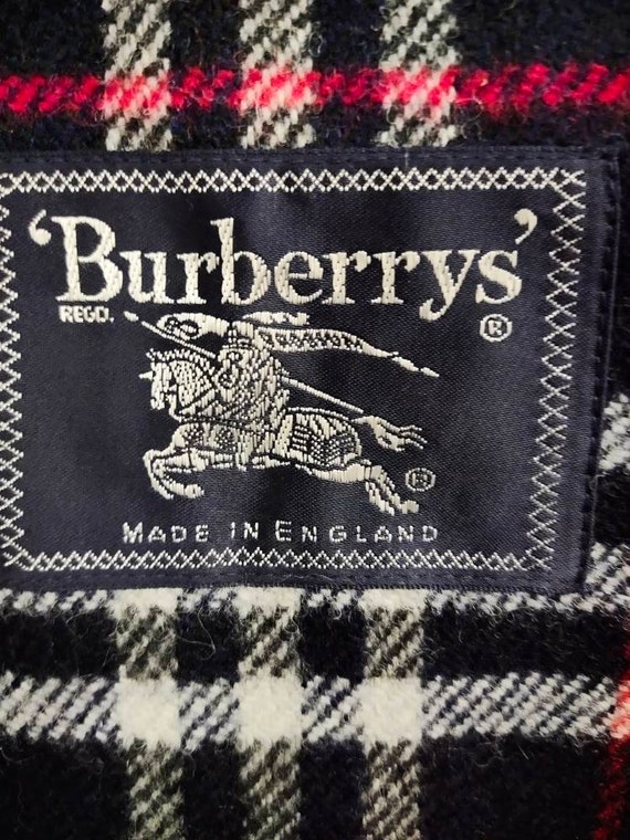 Vintage BURBERRY'S hoodie field jacket dark blue … - image 9