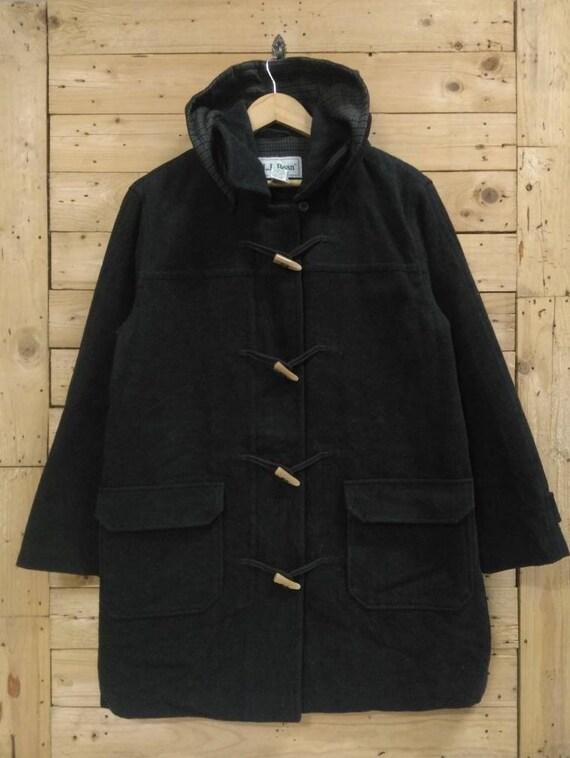 Vintage L.L BEAN toggle duffle coat black women's