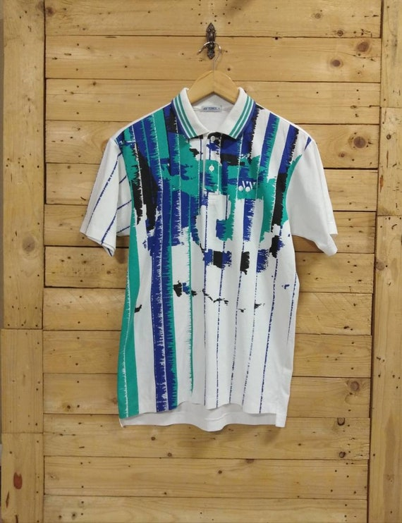 Vintage YONEX abstract polo tee size L fit M