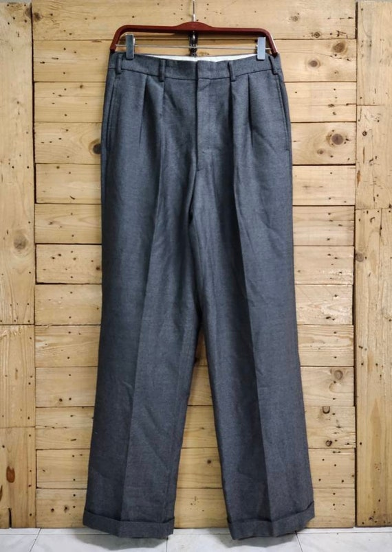 Vintage BURBERRY'S wool trouser pants waist 32""
