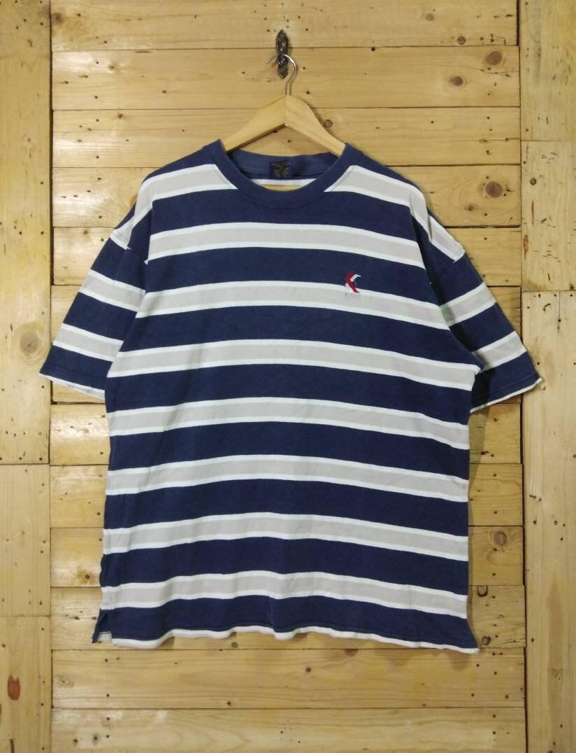 1ceddfa73097 Vintage 90s KARL KANI jeans stripes tee hip hop clothing size | Etsy