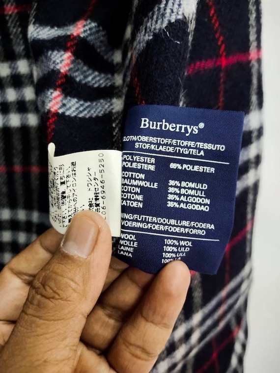 Vintage BURBERRY'S hoodie field jacket dark blue … - image 10