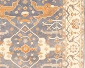 8 x 10 Vintage Design Top Quality Finest Oushak Indo Unique Decorative Hand Knotted Geometric Area Rug