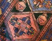 4.0 x 7.5 Vintage Top Quality Turkish Veg Dye Fine Hand Woven Area Rug
