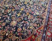 4.9 x 11.1 Vintage Top Quality Azerbaijan Area Rug Decorative Hand Knotted One of a Kind Geometric Rug