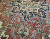 5.0 x 6.4 Antique Top Quality Azerbaijan Area Rug Decorative Hand Knotted Geometric Vintage rug