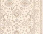 9 x 12 Vintage Design Top Quality Finest Oushak Indo Unique Decorative Hand Knotted Geometric Area Rug