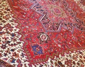 10 x 12 Vintage Top Quality Azerbaijan Area Rug Decorative Hand Knotted One of a Kind Geometric Design