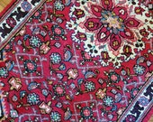 3.5 x 6.1 Vintage Top quality Fine Turkish Area Rug Hand Knotted Unique One of a Kind Geometric Design