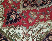 4.4 x 6.2 Antique Top Quality Azerbaijan Area Rug Decorative Hand Knotted Geometric Vintage rug