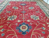 10 x 14.6 Vintage Design Top Quality Veg Dye Afghan Finest Decorative Hand Knotted Unique Geometric Area Rug