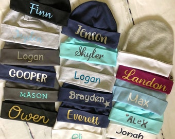 Personalized Baby boy Beanies baby boy custom hospital beanie baby boy custom  hats baby boy custom gifts newborn boy hat 6465abd20371