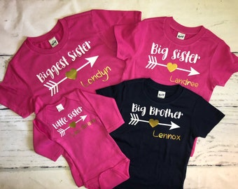 c60237966d4 Sibling shirts set of 4