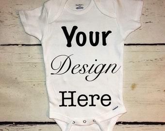 fd45fca8a Custom baby onesie/choose your text/choose your baby design/design your own  baby onesie/custom orders/personalized baby onesie
