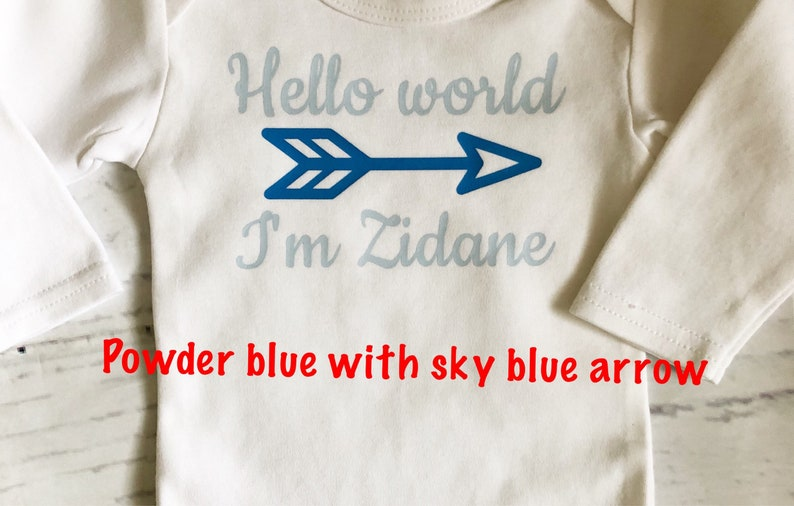 19ce612d5 Personalized hello world baby boy outfit Baby shower gift for