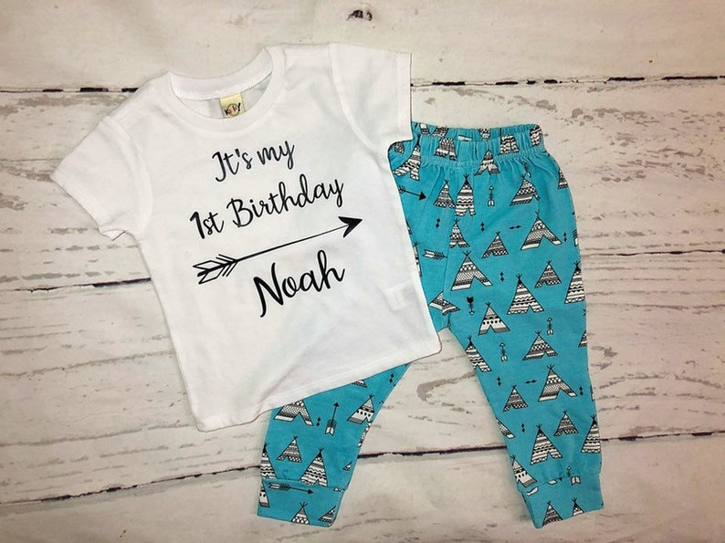 One Year Old Birthday Outfit For Boy Personalized Boys 1st