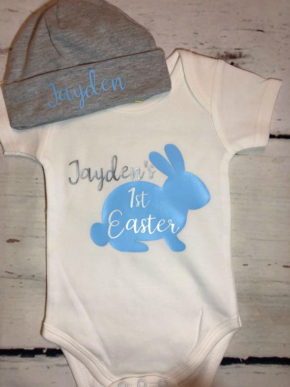 365aaf223 1st Easter personalized outfit for baby boy Easter set for