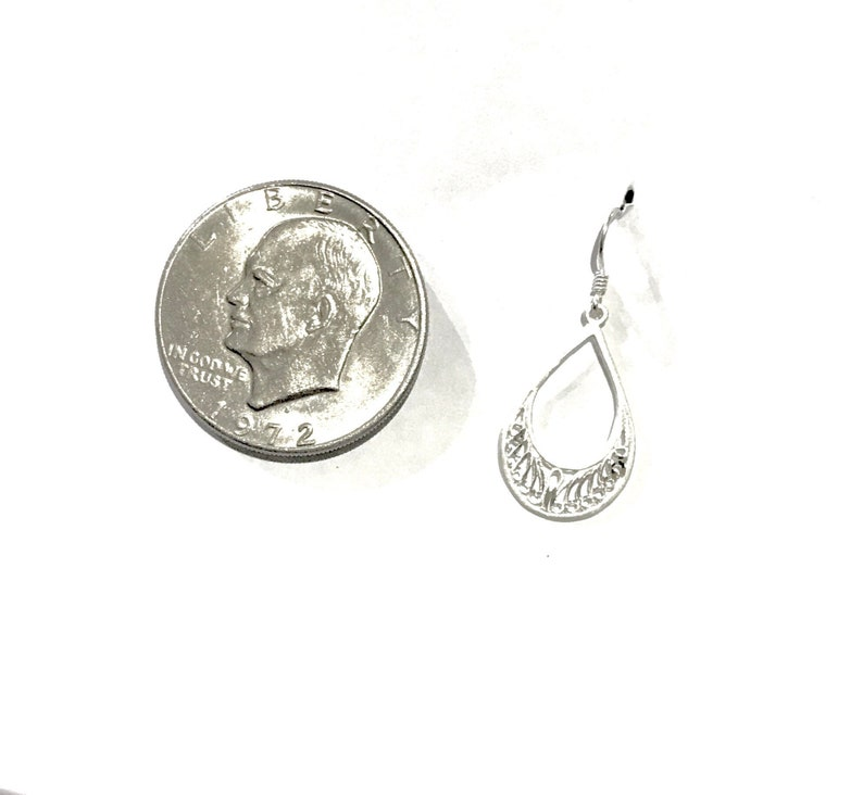 Sterling Silver Dangle Earrings Lightweight Earrings Shiny Earrings Free Shipping Christmas Gift