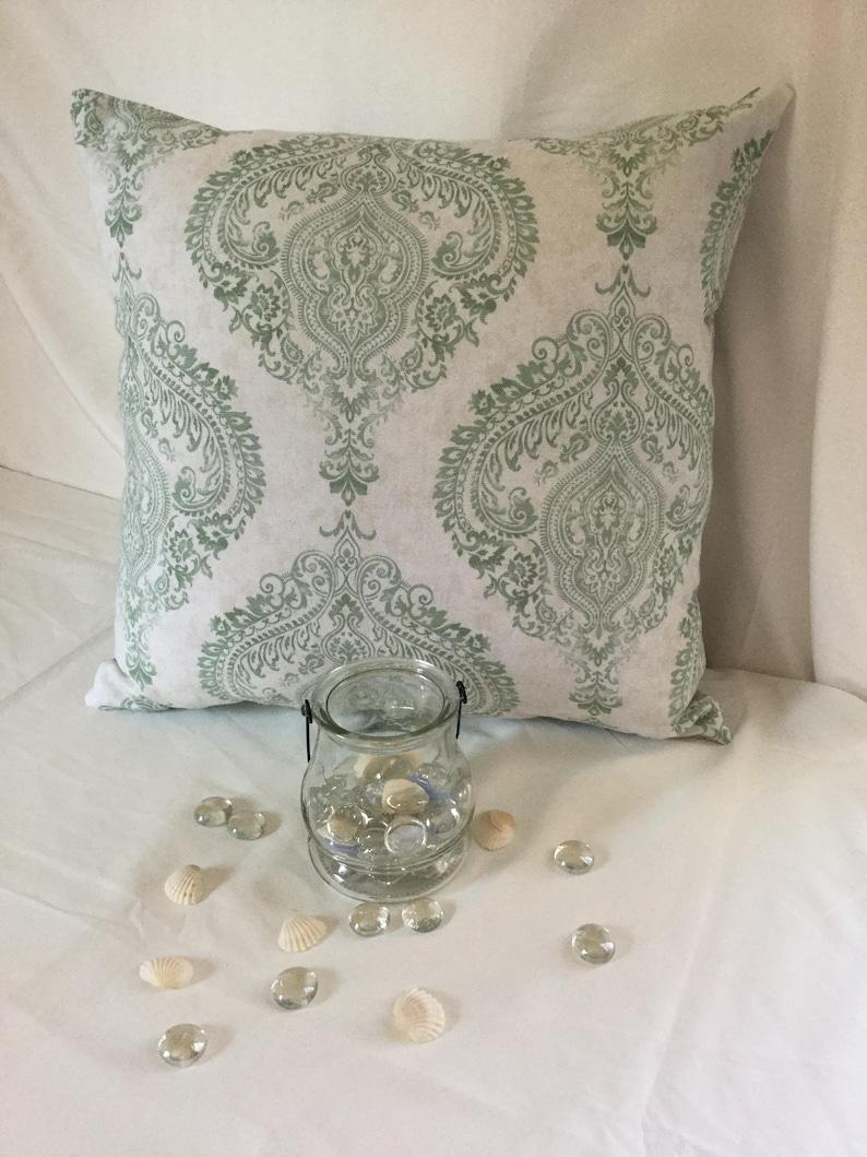 Floral Pillow,Seasonal Pillow Throw Pillow Decor Pillow Mint Green,White Pillow Summer Spring Decorative Pillow