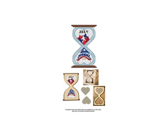 July, Gnome, Series, Hourglass, Blank, Heart, The Gnomes Of Time, Cute, Counted Cross Stitch, Digital, PDF, Pattern, Cross Stitch Wonders