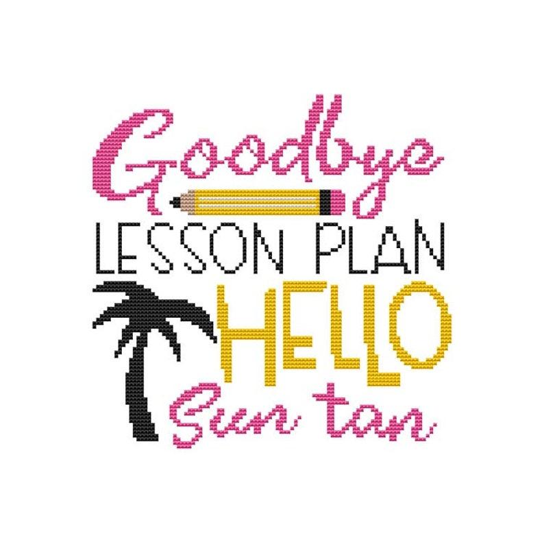 Schools Out Saying  Goodbye Lesson Plan Hello Sun Tan  image 0