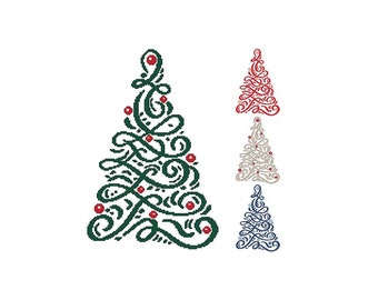 Christmas, Tree, Ribbon, Holiday, Christmas, Ornament, Colors, Counted Cross Stitch, Digital, PDF Pattern, Cross Stitch Wonders, Download