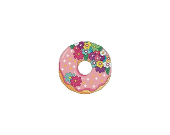 May, DONUTS, A Year Of, A Year Of Donuts, Flowers, Spring, Summer, Monthly, Counted Cross Stitch, Cross Stitch Wonders, Digital, PDF, Chart