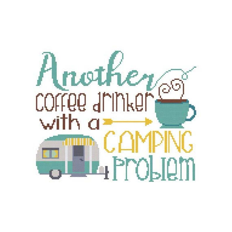 Another Coffee Drinker With A Camping Problem Counted Cross image 0
