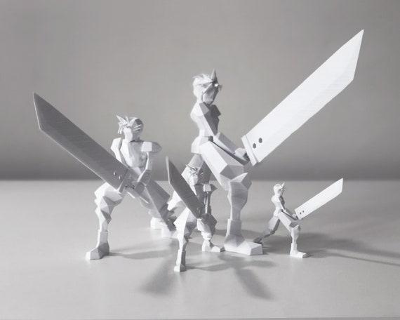 Cloud Strife Final Fantasy Vii Figurine 3d Printed Various Sizes