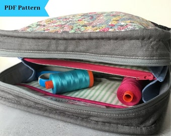 aa855151 Little Zippy Pouch PDF Project Bag Pattern: includes two sizes, ideal for  sewing, knitting, make up or toiletries bag
