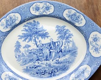 Blue white platter | Etsy