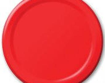 Red Plates 8 Pack, Birthday Party, Baby Shower, Hen Party, Wedding, Bachelorette, Christening