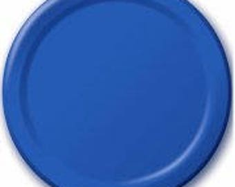 Blue Plates 8 Pack, Birthday Party, Baby Shower, Hen Party, Wedding, Bachelorette, Christening