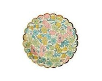 Liberty of London Poppy and Daisy Canape Plates 8 pack