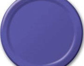 Purple Plates 8 Pack, Birthday Party, Baby Shower, Hen Party, Wedding, Bachelorette, Christening