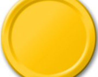 Yellow Plates 8 Pack, Birthday Party, Baby Shower, Hen Party, Wedding, Bachelorette, Christening