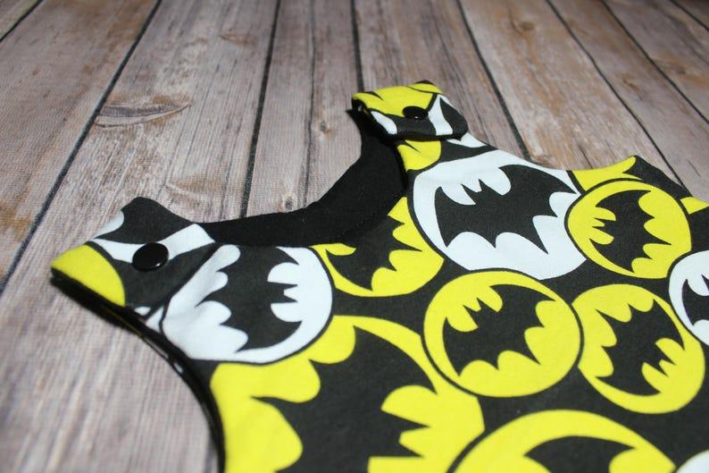 jumpsuit Romer harem coverall 3 months bib Batman
