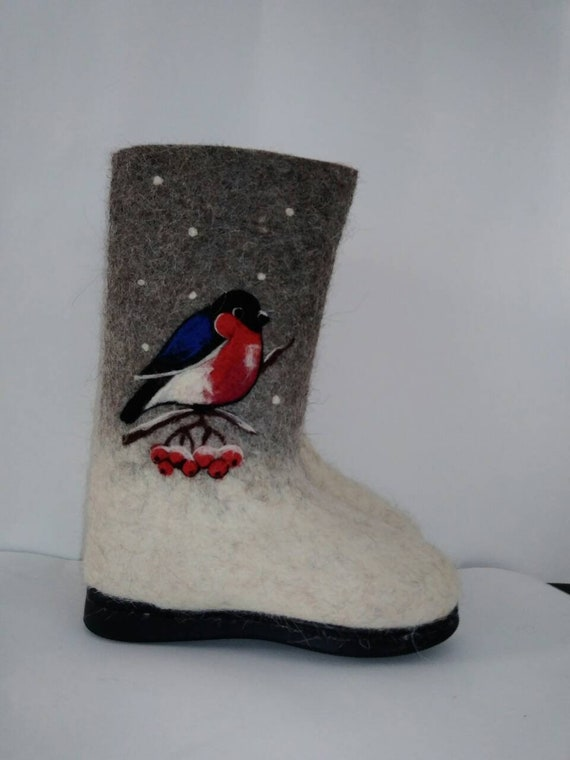 Bottes feutrées pour pour pour bottes feutrées pour enfants Valenki enfants pour garçons filles bottes de neige bottes d'hiver à la main brodé chaussures de plein air 8bd220