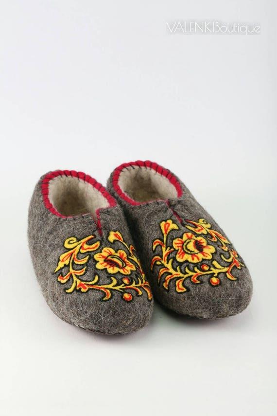 Gefilzte Schuhe Filzstiefel gefilzte Hausschuhe Eco Wolle Home Schuhe Eco Hausschuhe gefilzte Wolle Hausschuhe Woomen Männer Stiefel Handarbeit Wolle