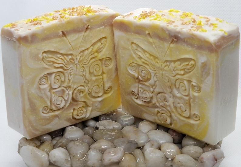 Lemon Cream | Homemade Soap | Cold Process Soap| Luxury Soap| Artisan Soap  | Bath and Body Soap | Bubble Beauty Soaps