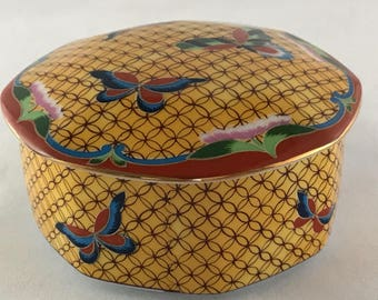 Vintage Takahashi Japanese Lidded Ceramic Dish