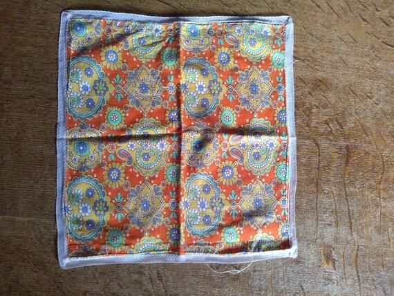 Vintage 1960s psychedelic print handkerchief. - image 4