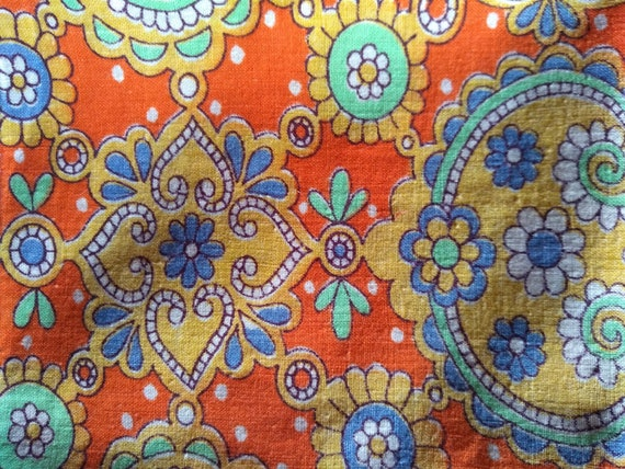 Vintage 1960s psychedelic print handkerchief. - image 1