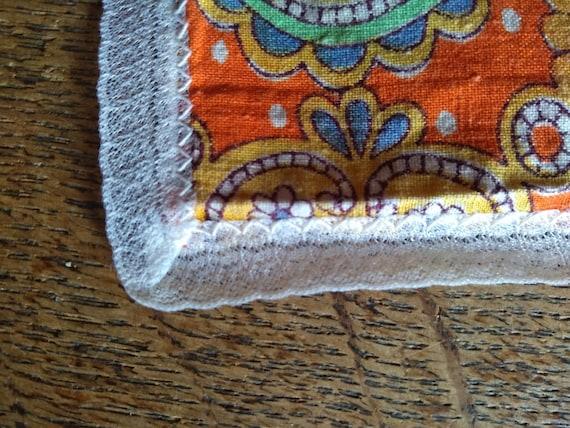 Vintage 1960s psychedelic print handkerchief. - image 5