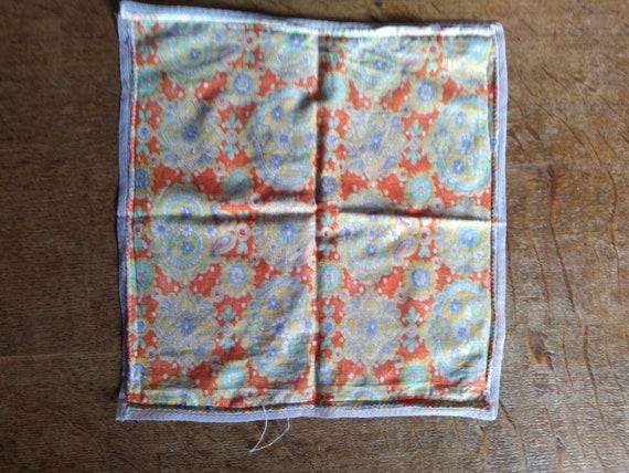 Vintage 1960s psychedelic print handkerchief. - image 7