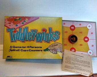 Vintage 1960s Tiddleywinks board game