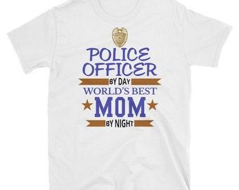 Dünne blaue Linie Polizei T-shirt - Polizei Kissen Sohn Mama Papa Mädchen  junge Frauen Mann Geschenk - Polizei-Papa - Polizei Mann Hemd - Polizei Frau d71ea973c8