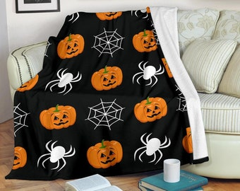 Halloween Scary Night Blanket - Halloween Throw Blanket - Halloween  Fleece Blanket - Halloween Adult Kid Blanket - Halloween Gifts Her Him