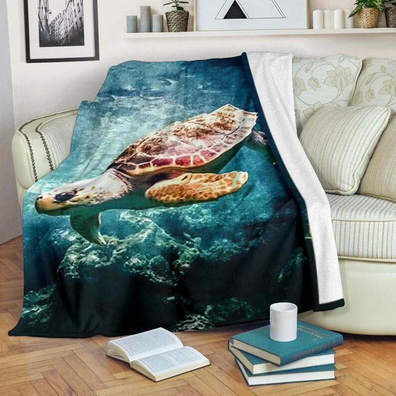 17. Turtle Throw Blanket
