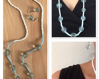 Crystal Necklace with Earrings